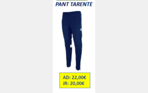 PANT TARENTE JUNIOR 12 ANS