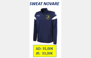SWEAT NOVARE ADULTE TAILLE L